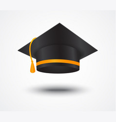 Graduate cap isolated on white vector