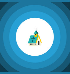 Isolated religious flat icon architecture vector