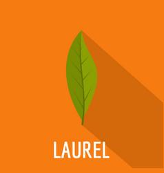 Laurel leaf icon flat style vector