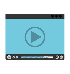 media player control panel icon vector image vector image
