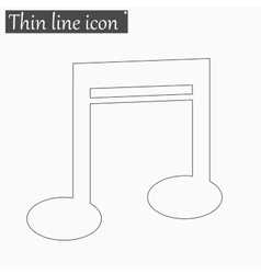Note icon Style thin line vector image vector image