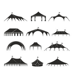 outdoor shelter tent event pavilion tents vector image