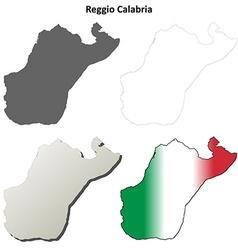 Reggio Calabria blank detailed outline map set vector image vector image