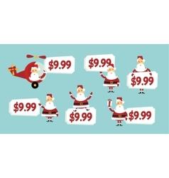 santa price tag vector image vector image