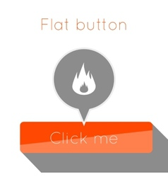simple flat modern button template design vector image