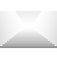 Stairs isolated on white background Steps vector image