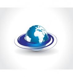 swirl globe vector image