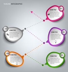 Time line info graphic with colored design vector