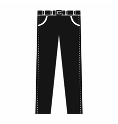 Trousers with belt icon in simple style vector image