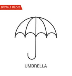 umbrella icon thin line vector image