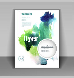 watercolor pattern booklet vector image