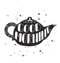 Good morning modern lettering poster vector