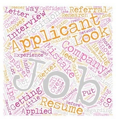JH your job is to find a job text background vector image