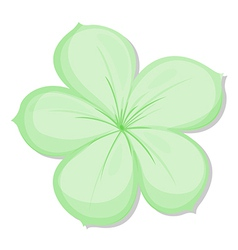 A five-petal green flower vector