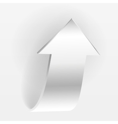 White arrow vector image