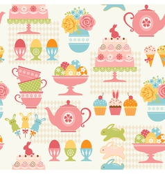 Easter party pattern vector