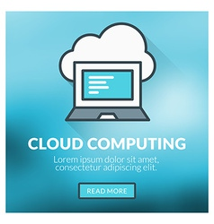 Flat design concept for cloud computing wit vector