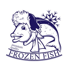 Frozen fish vector