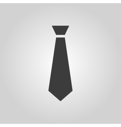 The tie icon necktie and fashion dress code vector