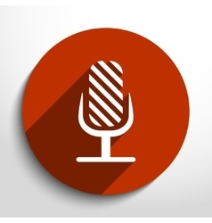 Microphone web flat icon vector