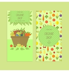 Advertising banner flyer templates organic food vector