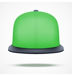 Layout of color rap cap vector