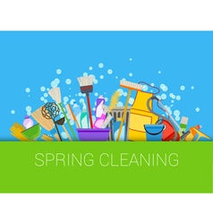 Spring cleaning composition vector