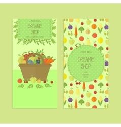 Advertising banner flyer templates organic food vector