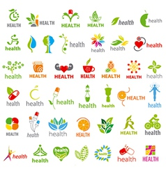 Biggest collection of logos health vector