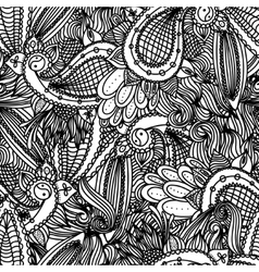 black white and colored doodle zentangle vector image vector image