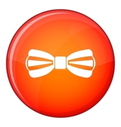 Bow tie icon flat style vector