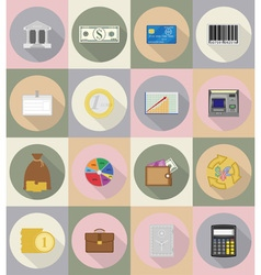 business and finance flat icons 19 vector image vector image