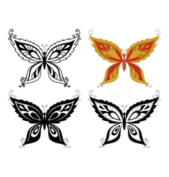 Butterflies with abstract pattern vector image