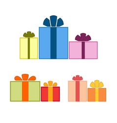 Christmas gifts flat vector image vector image