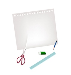 Craft Tools Lying on A Blank Page vector image