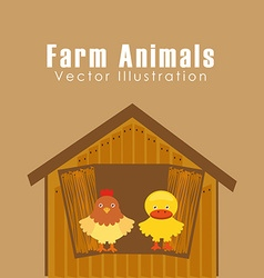 Farm animals design vector