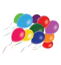 Group of multi colored balloons - vector