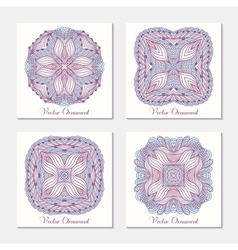 Hand drawn ethnic ornament Set of cards template vector image vector image