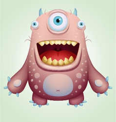 happy monster vector image