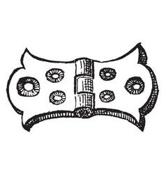 Hinge closes vintage engraving vector