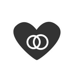 icon Heart couple vector image