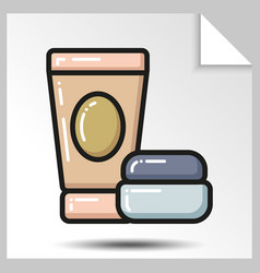 Icons of beauty cosmetics 12 vector