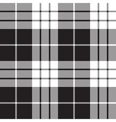 Macleod tartan plaid texture black white seamless vector