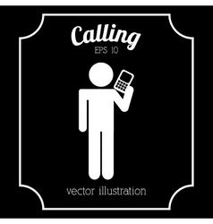 man calling vector image