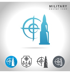 Military blue icon vector
