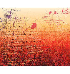 red forest vector image
