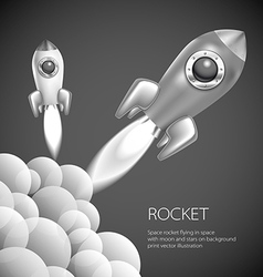 Rocket icon space fire symbol flame cartoon vector image vector image