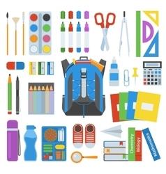 School bag set vector