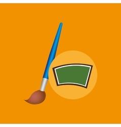 School board icon puzzle brush design vector