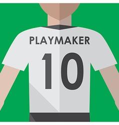 Soccer playmaker number10 vector